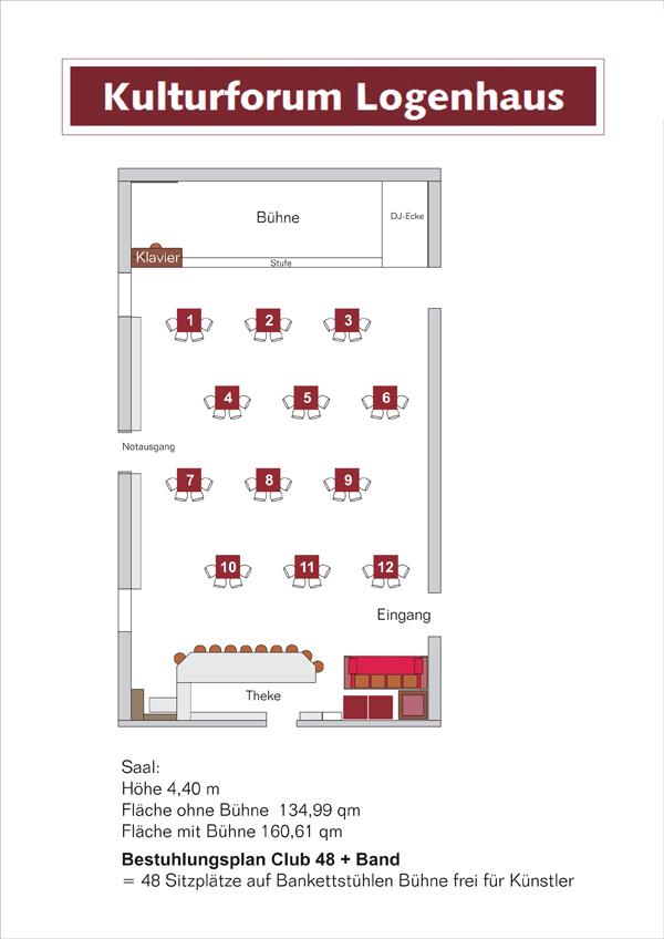 Kulturforum Logenhaus - Tischplan